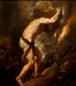"Albert Camus' ""The Death of Sisyphus"" locates happiness as, in part, a focus on the task at hand."