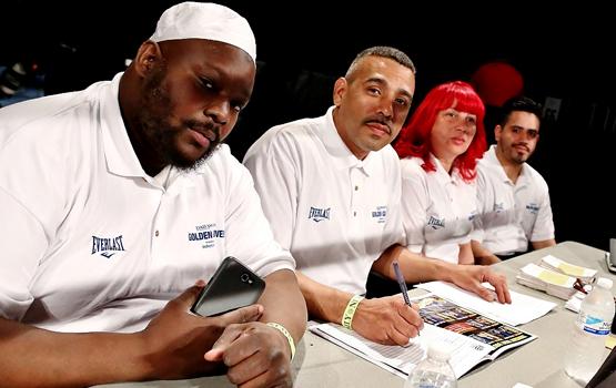 Golden Gloves boxing judges