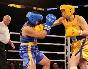 women fight golden gloves